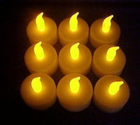 Wholesale 24 x Plastic LED Electronic Candle TEA LIGHTS Lamp for party wedding Dinner yellow