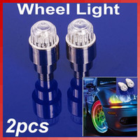 Wholesale 2pcs Color Bike Cycling Motor Car Tire Tyre Valve Gaps Stem Wheel LED Light Lamp