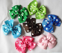 Cheap cute bows girls flower hair clips baby hair wear children's hair clips kids Hair Accessories Windmill Hair Bow