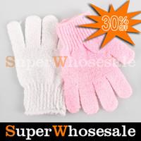 Wholesale Cloth Bath Mitt Exfoliating Gloves Cloth Scrubber Face Body Moisturizing Spa Accessories Skin Care