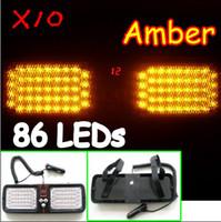 Wholesale Super Bright Car Truck Emergency LED Strobe Light Visor light Visor Strobe Yellow