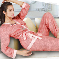 Women cotton nightgown - 3Set Sexy Underwear Cotton Long Sleeve Condole Belt Vest Pluss Size Sleepwear Nightgown SG