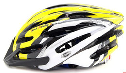 Wholesale BELL SOLAR Cycling Road Bike Helmet Matte yellow and white Mountain Bike Helmets ADJUST HELMET