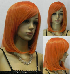 Wholesale Hot Sale Fashionable Costume Hairstyle Medium Orange Cosplay Wig For Sale mix order