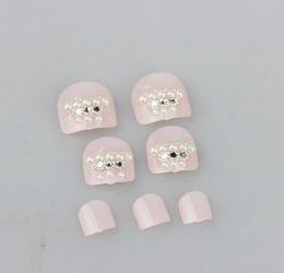 20sets lot 3D Toe Nails Tips With Nail Glue Acrylic Nail Art False Fake