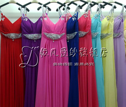 Wholesale 2012 New women Multicolor Dress Cocktail dress evening dress Custom sizes and colors