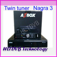 Wholesale Azbox Bravissimo Iks Satellite Receiver Twin Tuner Support SIFI Nagra3 For Brazil