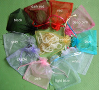 Wholesale 4 quot X6 quot Jewelry Gift Bags Organza Pouches with Satin can print Logo Travel cheap Jewel Packaging