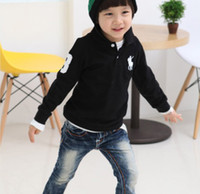 Wholesale Autumn of embroidered cotton jersey small circle who han edition long sleeved children clothing POLO