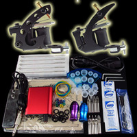 Beginner Kit 2 Guns  Pro Tattoo Kit 2 Beginner Machine Gun Power Supply Foot Pedal Needle Grip Tip K11