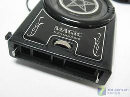 Wholesale 2012 hot Mini Vacuum Case Cooler USB Cooling Fan for Laptop Notebook idea FYD Blue LED light fre
