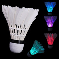 Wholesale 100 Shuttlecocks Colorful LED Shuttlecock Badminton Feather Birdies set