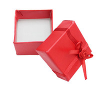 Wholesale ring boxes fashion ribbons paper cardboard wedding package gift box for jewelry Hot