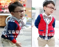 Wholesale Children s Autumn cardigan Boys cotton cardigan jacket Girls long sleeve coat tops