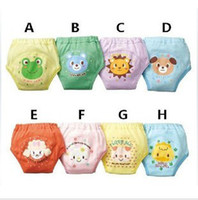 Wholesale 24pcs Toddler Boys Girls Potty Training Pants Baby Waterproof Trainer potty underwear Infant pants