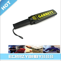 Wholesale Portable Metal Detector Professional Mini Garrett Handheld Metal Detector Super Scanner Superscanner with Vibrator Free DHL Fast Shipping