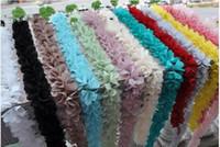 al por mayor bordes de encaje hecho a mano-Mezclado (15) color de las hojas de la gasa ata el accesorio hecho a mano DIY del cordón sobre 1.96inches ancho 15yard / lot