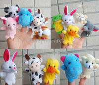 Cheap 100 pcs Children's Puzzle Baby Finger toy animal dolls Hand finger Toy puppet story-telling props AA