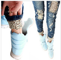 Wholesale New Arrival Lady Jeans Korean Version of Leopard Cloth Snowflake Jeans PT340