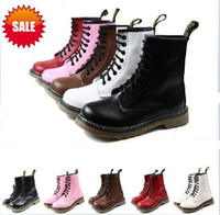 Wholesale women mens warm Martens winter snow boots shoes winter genuine leather lace up ankle b
