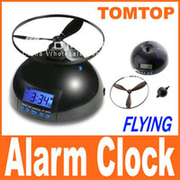 out of - Flying Alarm Clock Screw Propeller Helicopter Style Digital Clock Must Get Out of Bed to Turn Off H443