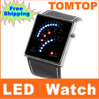 Wholesale Cheap LED Light Digital Watch LED Red Blue Date Lady women men unisex WristWatch super bright H1376