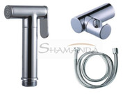 Wholesale brass chrome Handheld Bidet Portable bidet shower with pedestal m pipe