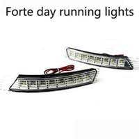 Cheap 2X Car 5LED Daytime Running Driving Light Fog Fit For KIA Forte Screw Installation Original Bit