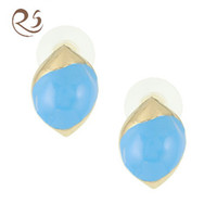 Wholesale Olive Ball Fashion Jewelry Charm Enamel Earring
