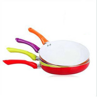 Wholesale 26cm Colorful ceramic pan ceramic coating smoke free non stick cookware colors select red purple