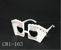 Wholesale Halloween Party Glasses Poker Face Funny Novelty Glasses Cheap Plastic Party Sunglasses Party Favor