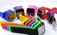 Wholesale 200PCS Luxury Unisex LED Black Mirror Watch Colorful Electronic Men s Ladies Watch Women Watches