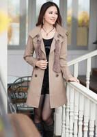 Korea women new style double- breasted figure flattering slim...