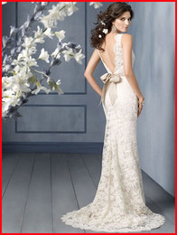 Wholesale Custom Made Lace Mermaid Wedding Dress Bridal Prom Gown Formal Party Evening Dresses HOT