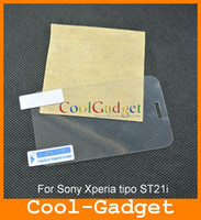 Wholesale Clear Screen Protector Film Guard Skin Cover for Sony Xperia tipo ST21i MSP493