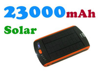 Wholesale 23000mAh Solar Charger Rechargeable Battery for Mobile iphone Tablet PC ipad Laptop