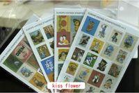 Wholesale Europe vintage stamp sticker set sheets per pack cute note sticker Decoration label Multifunction
