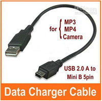 Wholesale USB A to Mini B pin Male Data Charger Cable for MP3 MP4 GPS Camera Free china post