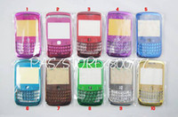 Wholesale Metallic Glossy Replacement Faceplate Lens Keypad Full Housing Case Cover for Blackberry