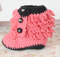 1pair crochet baby snow ruffles booties first walker shoes l...