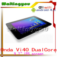 Wholesale 9 inch Onda Vi40 dual core android tablet pc cortex A9 GB DDR3 GHz HDMI Webcam GB GB