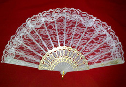 Wholesale Hot sell wedding lace fan bridal s hand fan