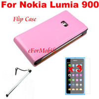 Wholesale Mobile Phone Leather Case Flip Phone Case Screen Protector Mobile Phone Pen For Nokia Lumia
