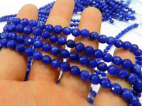 Wholesale 6mm Faceted Blue Sapphire Gemstone Loose Beads