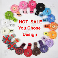 Wholesale 36pcs headbands Crochet headband girls Hair flower hair clips baby hair bow clip