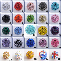 Wholesale 300pcs Fashion Beads mm Mixed Colors Sparkly Disco Crystal Beads Clay Ball Rhinestone Beads