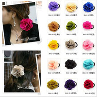 Women's fashion hair circle - Fashion Girl s rose flowers hair circle brooch headband hairband wristband bracelet mixed colors