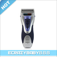 Wholesale KEMEI ZOWAEL Men Wet Dry Dual Cutter Electric Shaver Washable Razor with Trimmer Cleaning Brush