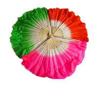 Wholesale assorted colors Chinese silk dance fan veils