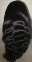 Wholesale Indian Remy Human hair full lace wigs quot quot B off black Natural wave for black